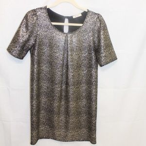 Everly gold glitter dress size S
